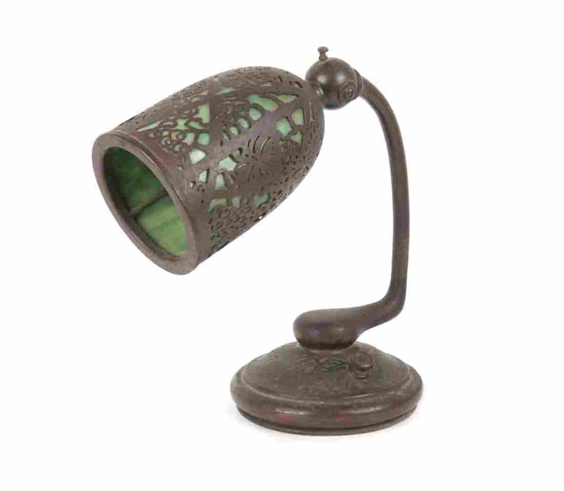 Tiffany bronze and glass Grapevine desk lamp