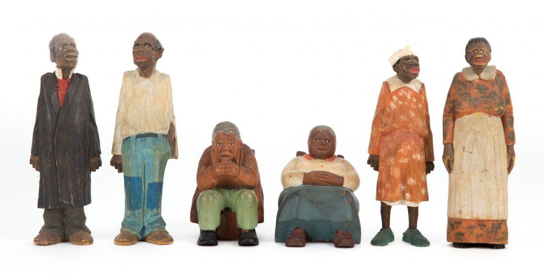 Adrian Woodall. Four Black Americana figures
