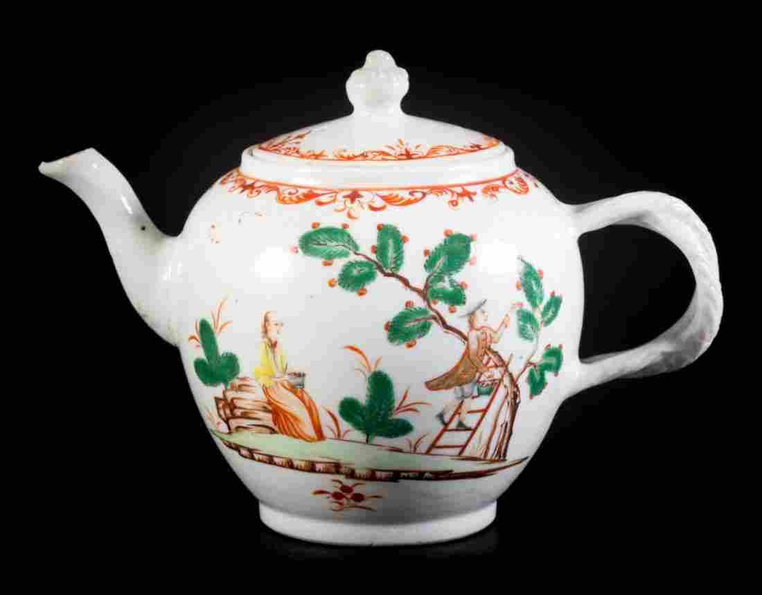 Chinese Export European subject globular teapot