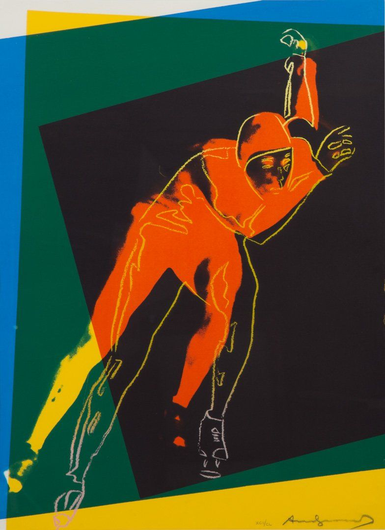 """Andy Warhol. """"Speed Skater,"""" color screenprint"""