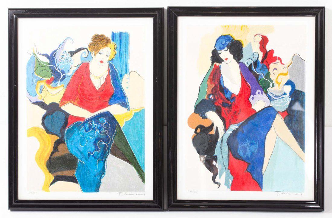Itzchak Tarkay. Pair of serigraphs, each framed