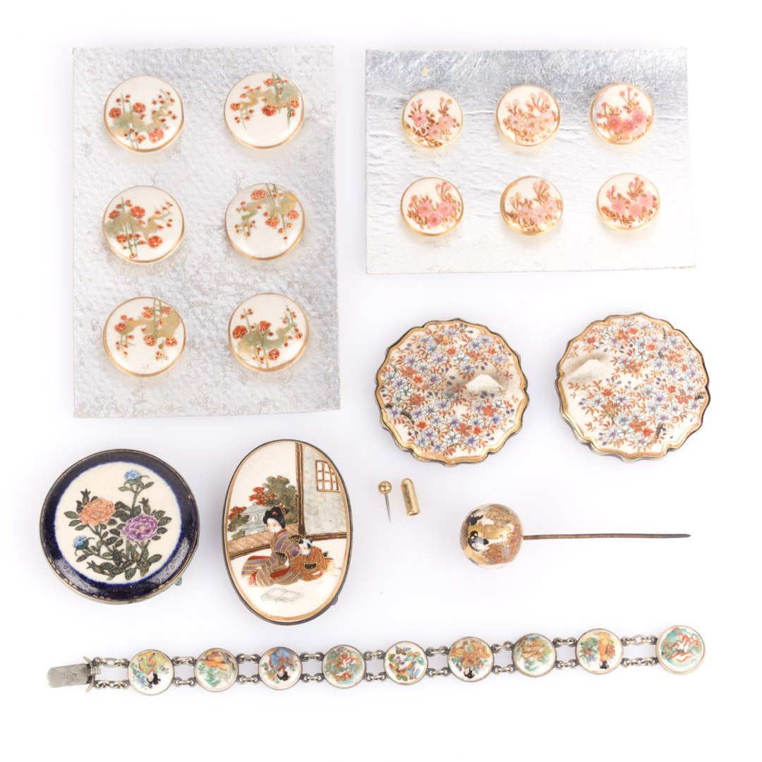 A Collection of Satsuma Jewelry and Buttons
