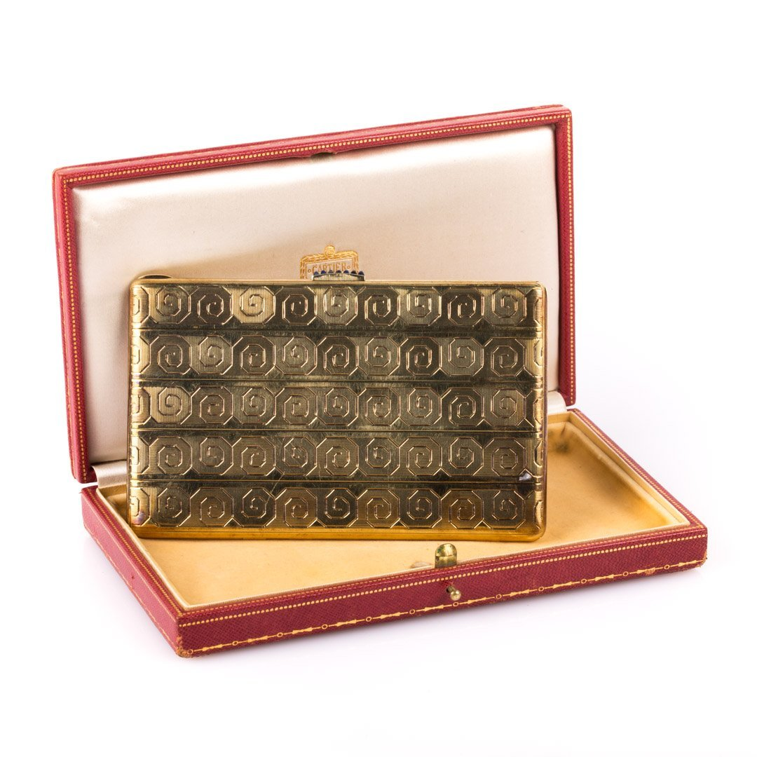 A Gold Cigarette Case by Cartier, NY