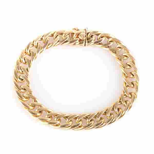 A Gentleman's Curb Link Bracelet in 14K Gold