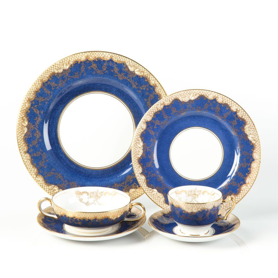 Crown Staffordshire china partial dinner service