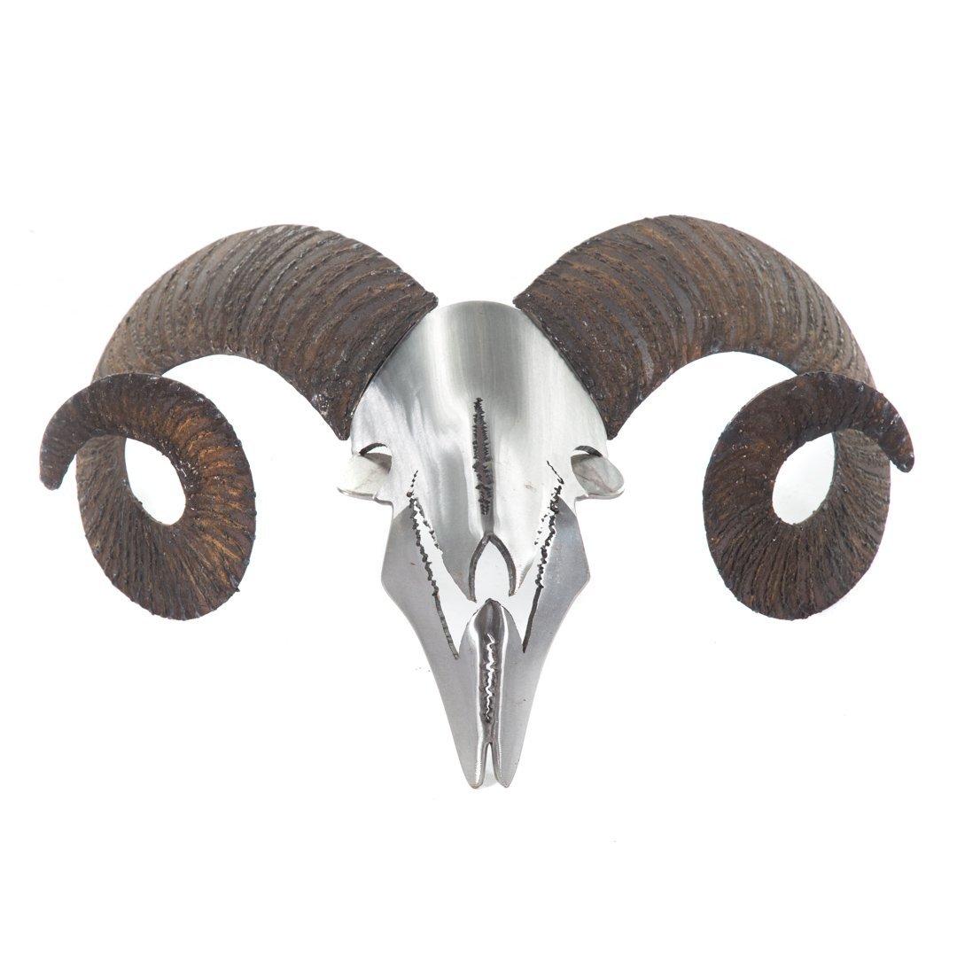 Dan Day. Ram's Head, steel sculpture