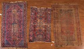 Three antique Hamadan & N.W. Persian rugs
