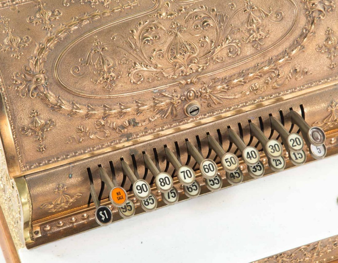 National brass wood cash register - 3
