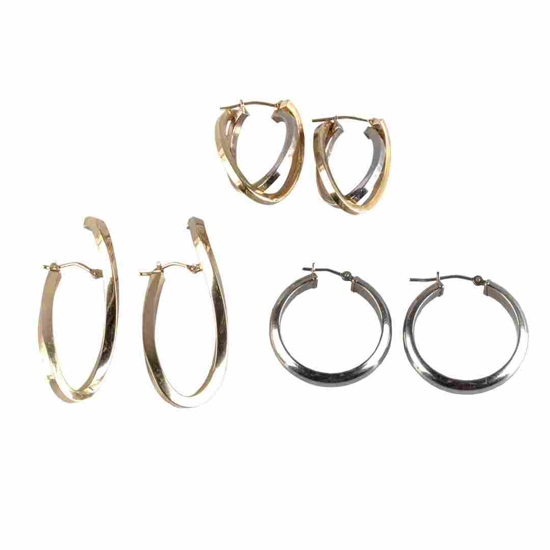 A Trio of Lady's Hoop Earrings