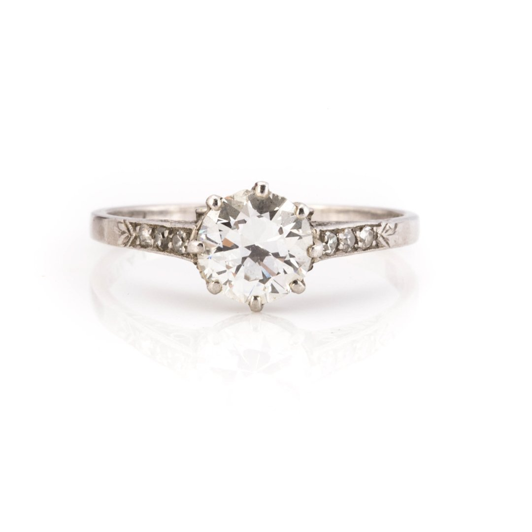 A Lady's Vintage Diamond Engagement Ring
