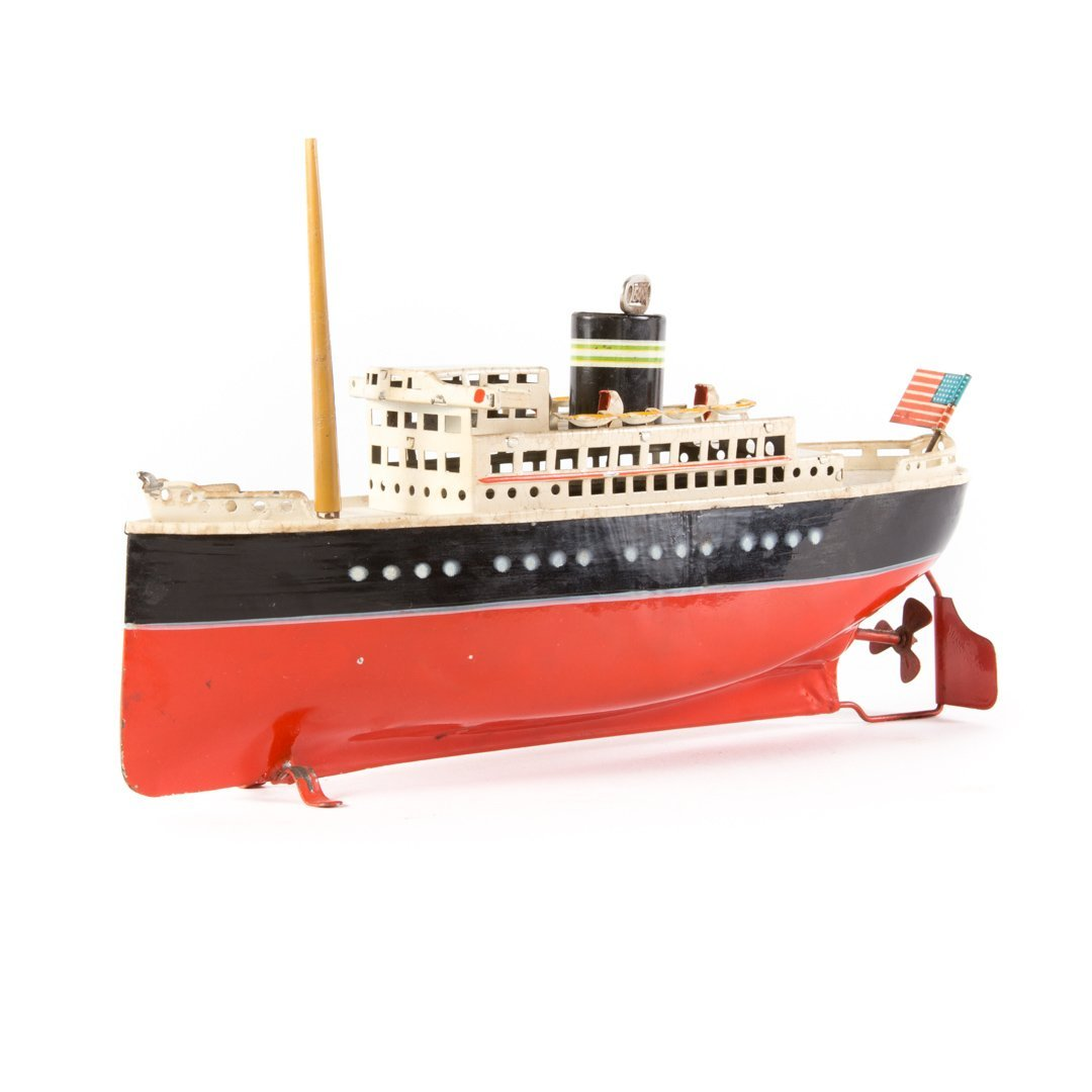 Arnold tin wind up boat