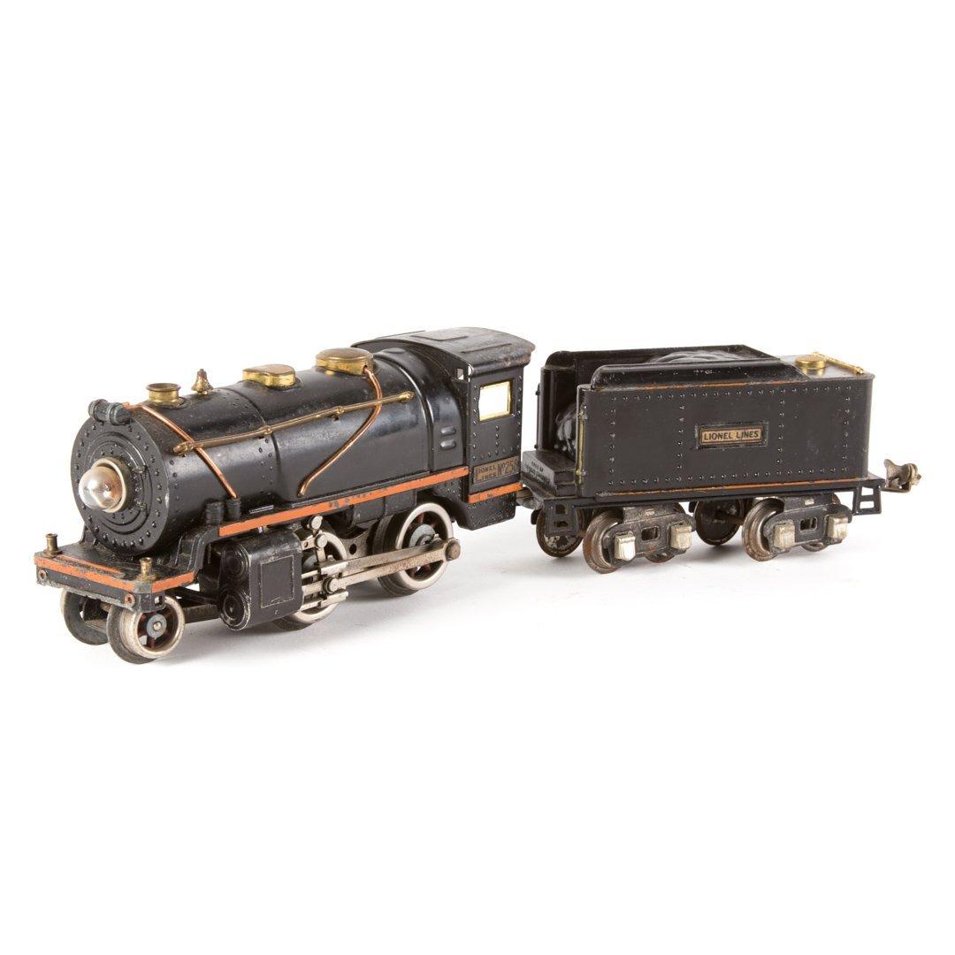 Ives O gauge #258 engine and tender