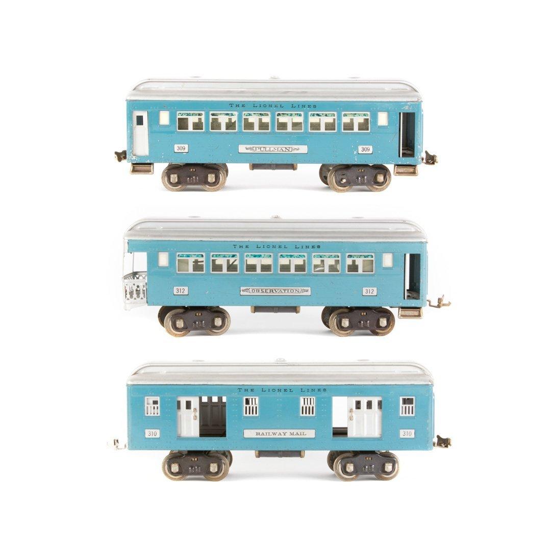 Lionel standard gauge #309, #310, #312 cars