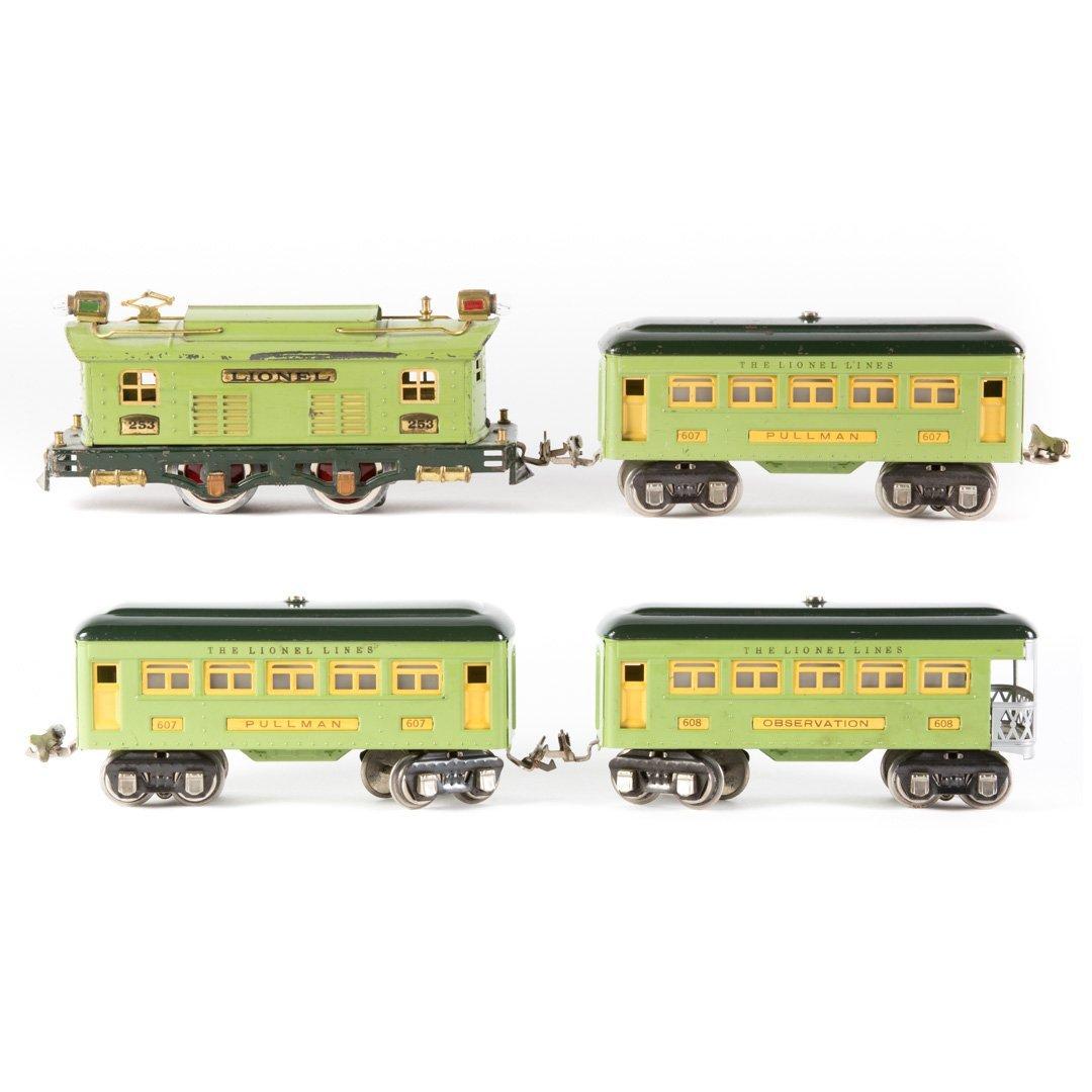 Lionel O gauge #253 green passenger set