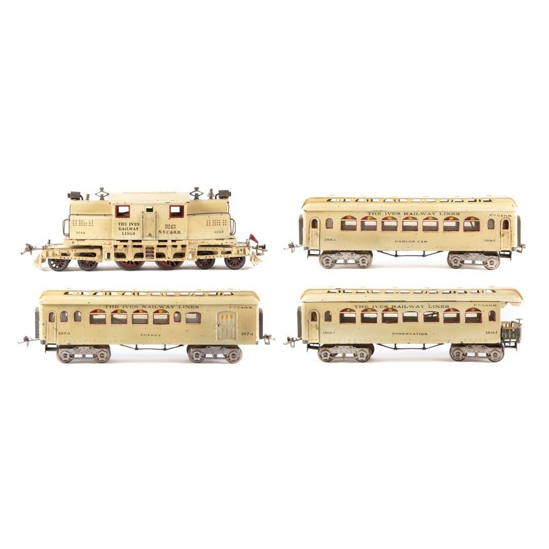 Very rare Ives #3243 white passenger train