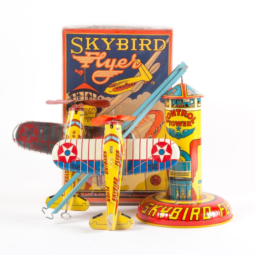 Marx Sky Bird Flyer-Tin Litho