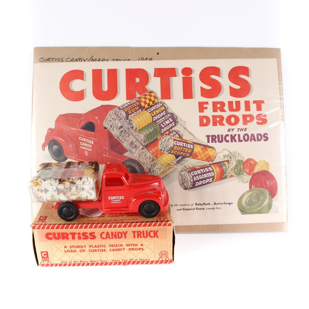Curtiss Candy Truck And Original Sign