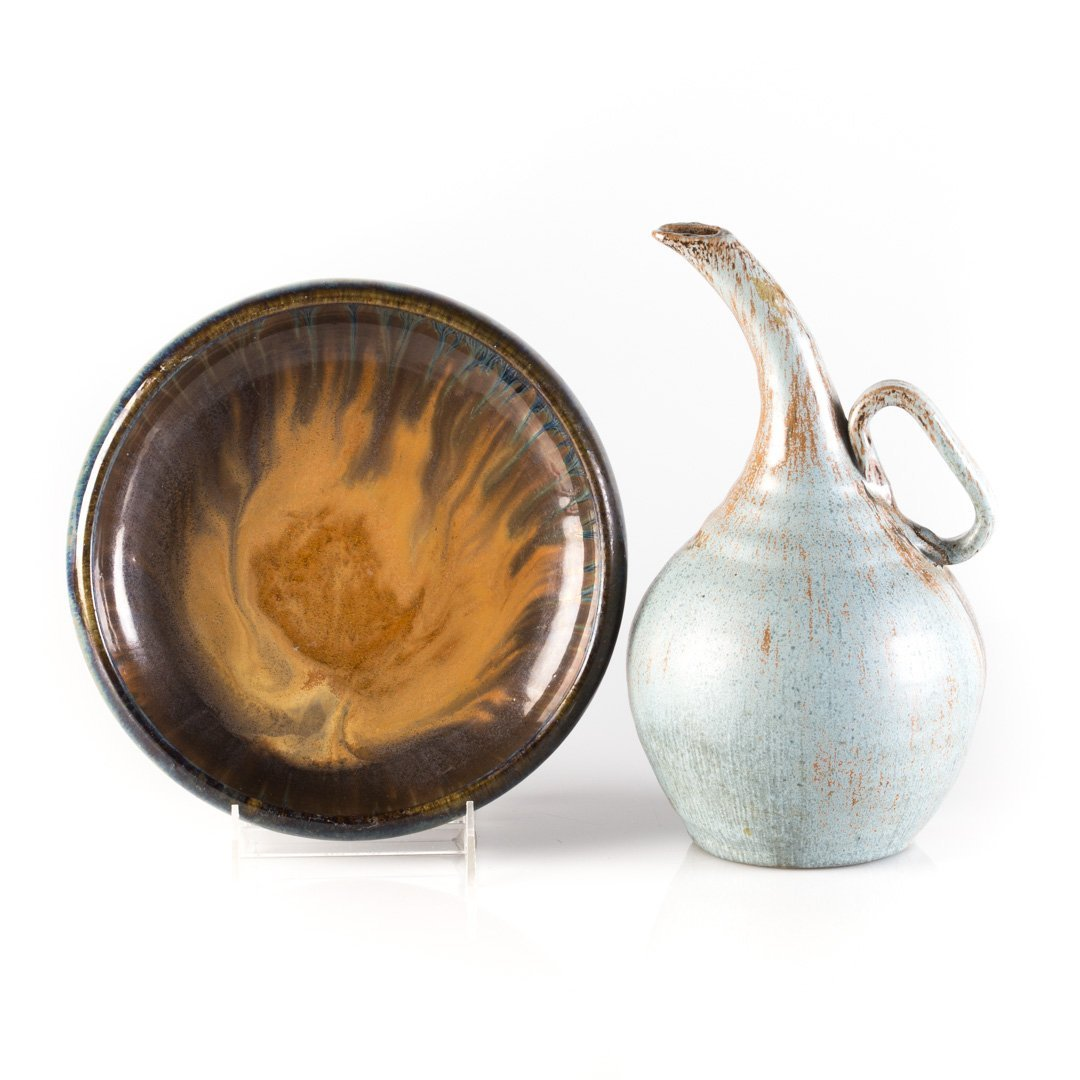 Two pieces of American art pottery