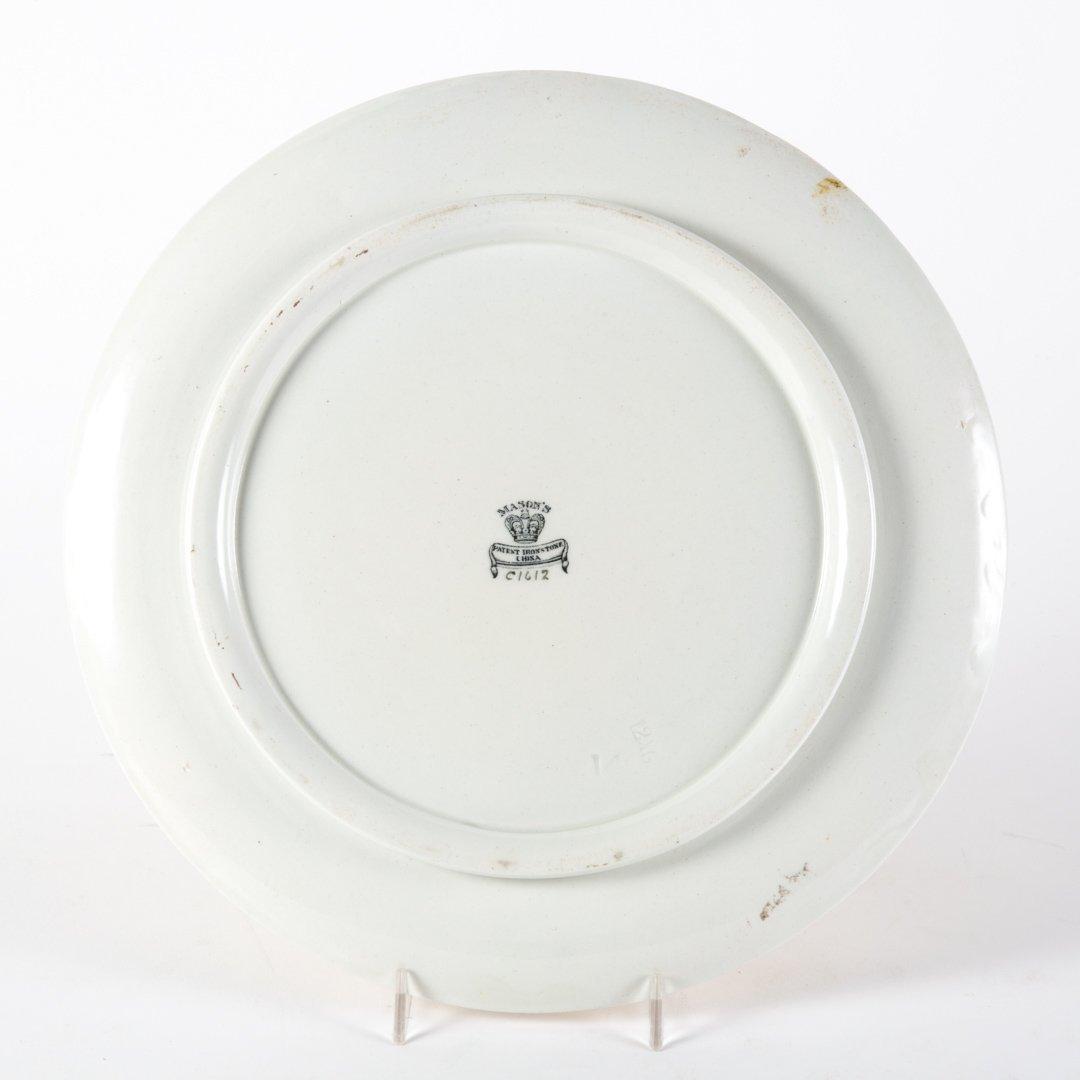 Mason's ironstone footed cake plate - 2