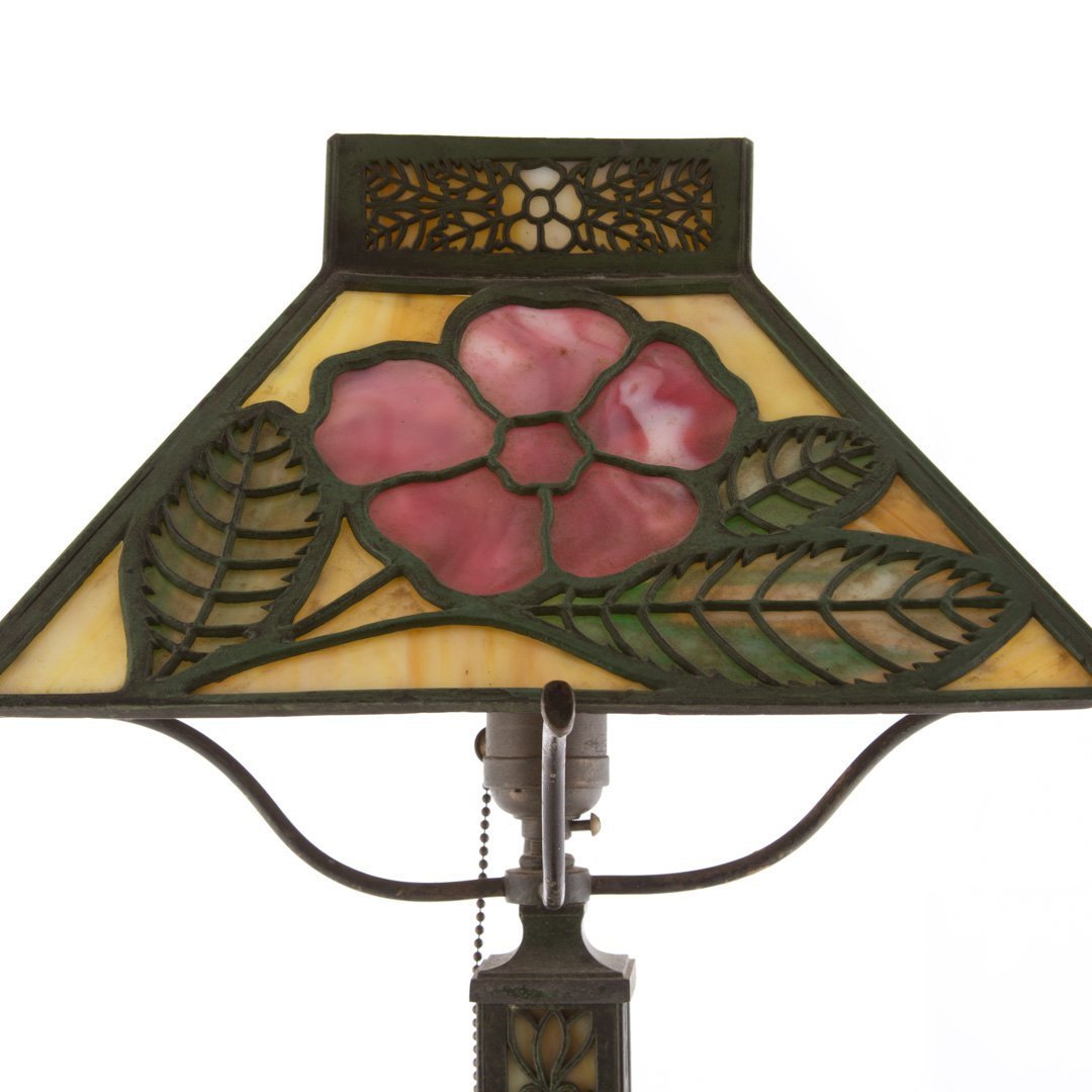 Arts and Crafts patinated metal table lamp - 3