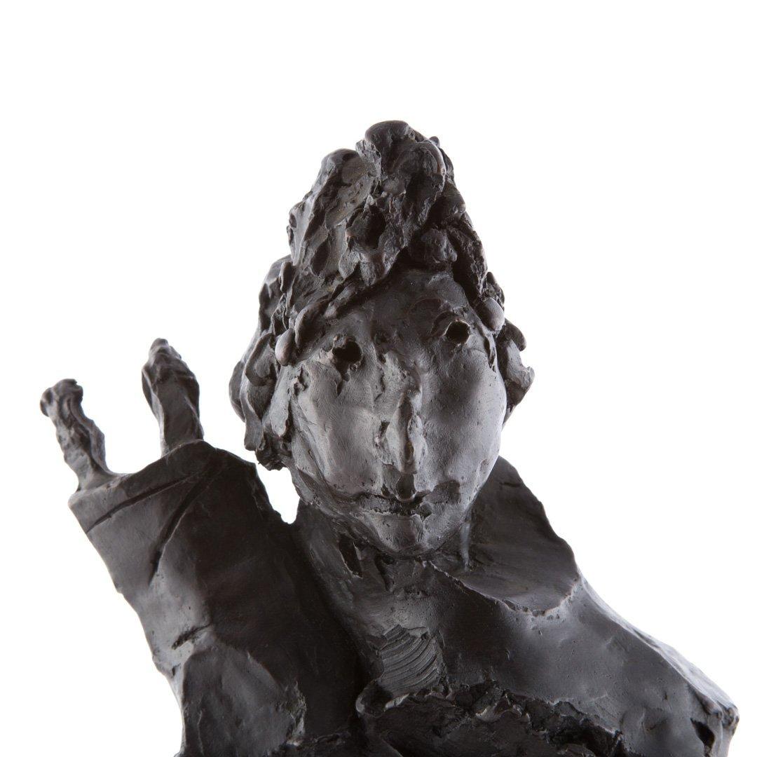 David Aronson Rabbinical Student bronze sculpture - 8