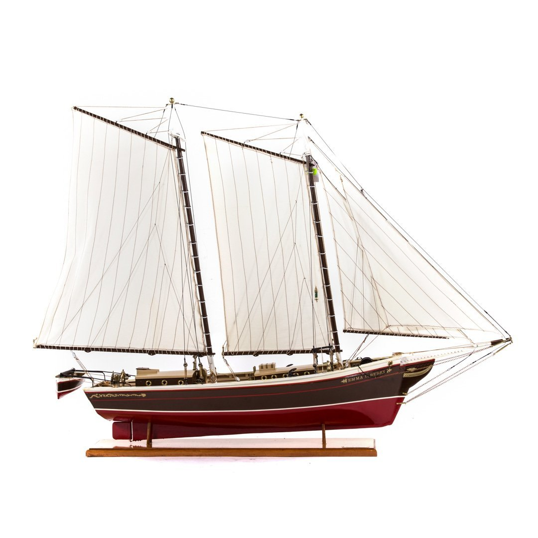 Wooden ship model: Emma C. Barry