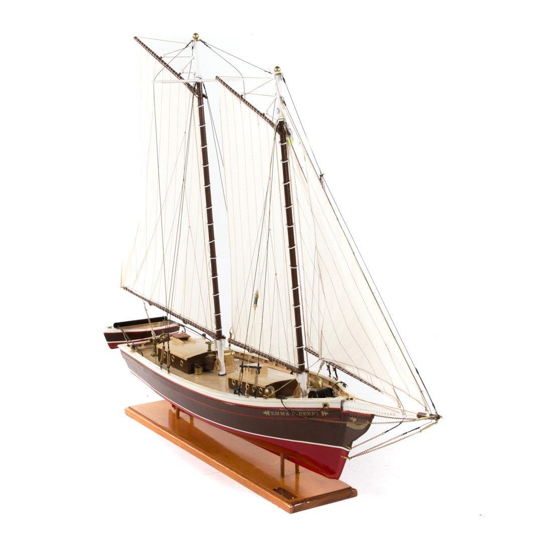 Wooden ship model: Emma C. Barry - 2