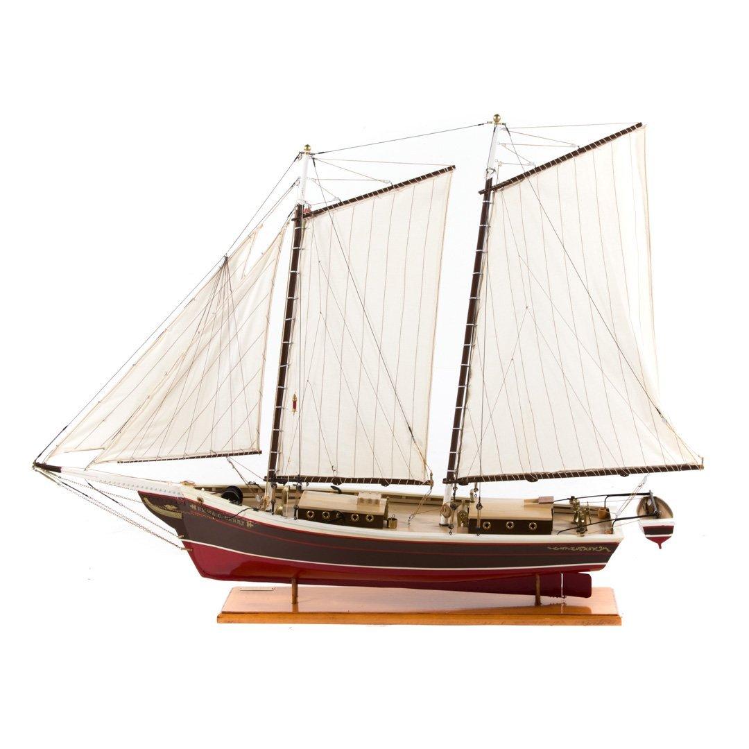 Wooden ship model: Emma C. Barry - 3