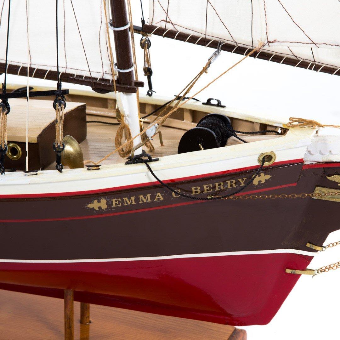 Wooden ship model: Emma C. Barry - 4