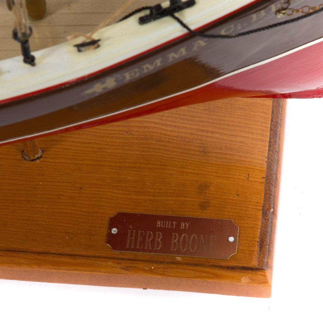 Wooden ship model: Emma C. Barry - 5