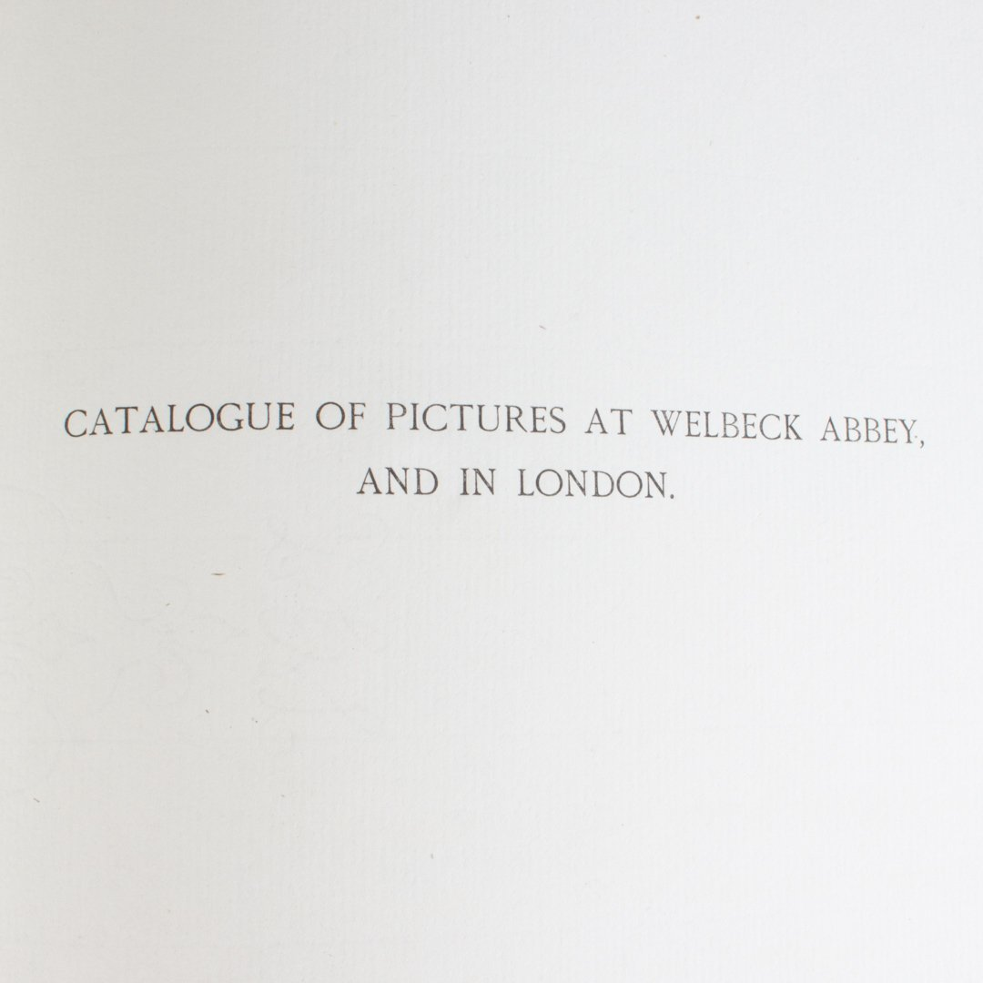 Catalogue of the Pictures-Duke of Portland 1893 - 2