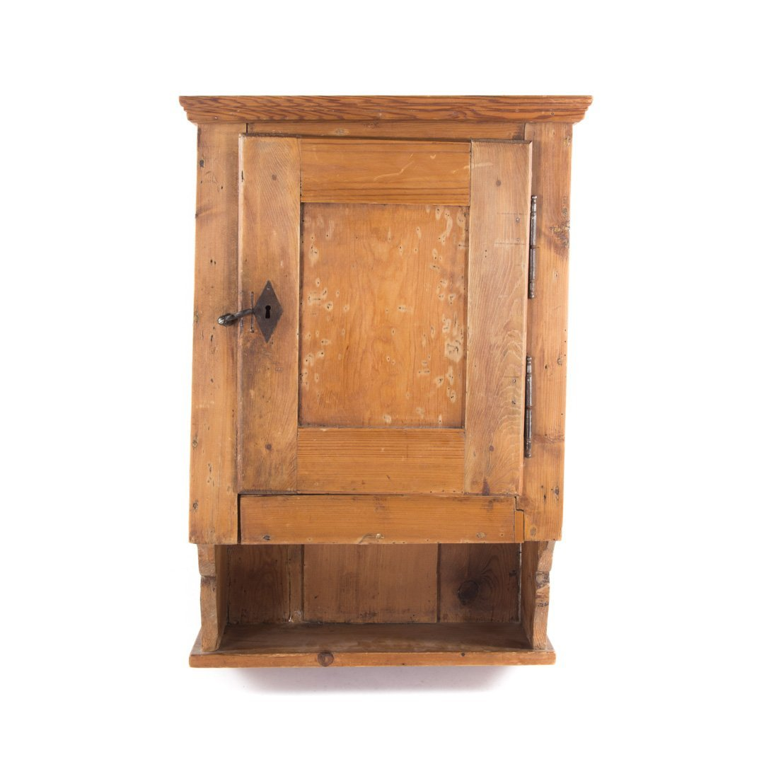 Dutch pine hanging cabinet