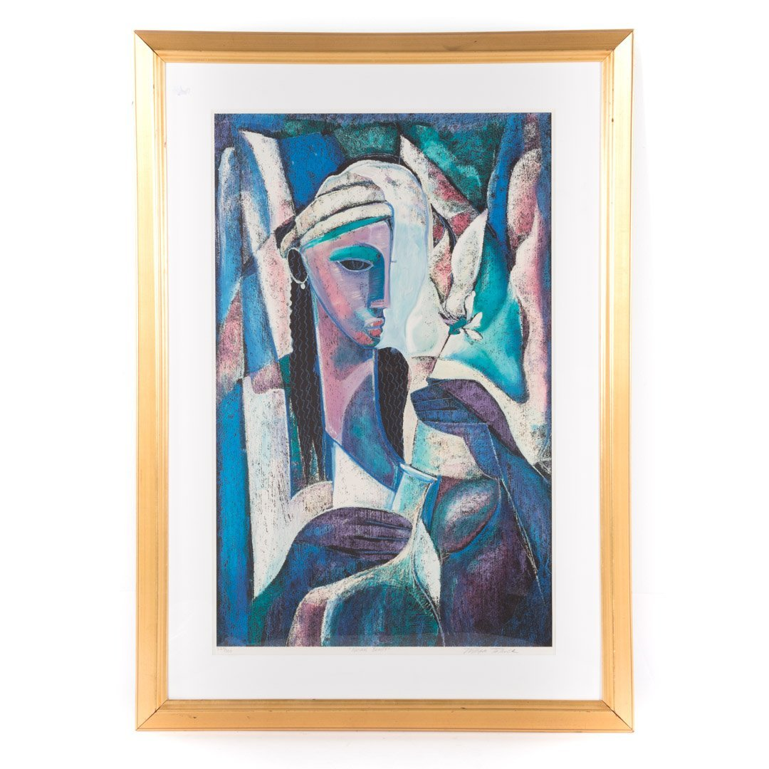 """William Tolliver. """"Natural Beauty,"""" serigraph"""