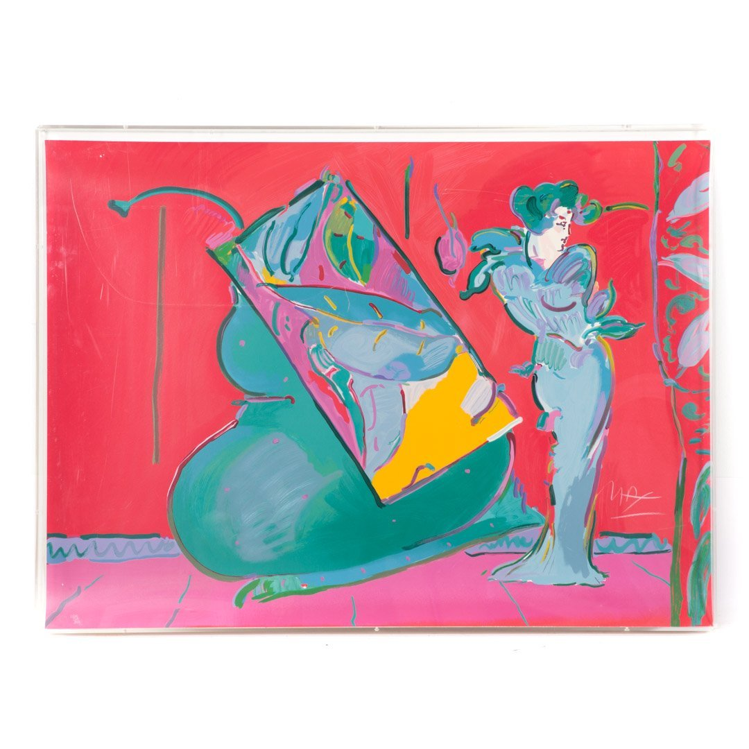 """Peter Max. """"Flower Lady,"""" lithograph"""