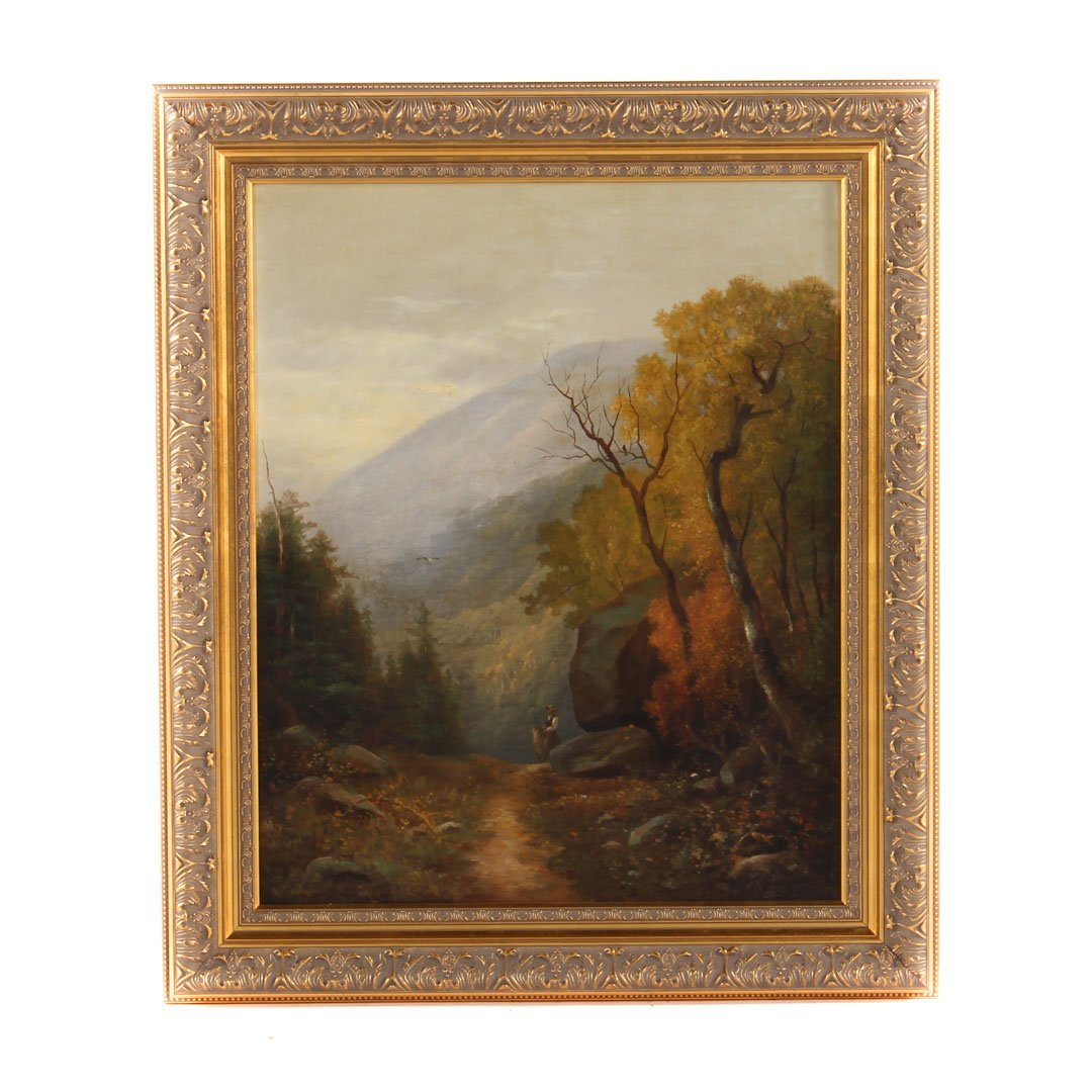 William Ongley. Autumnal Landscape, oil on canvas