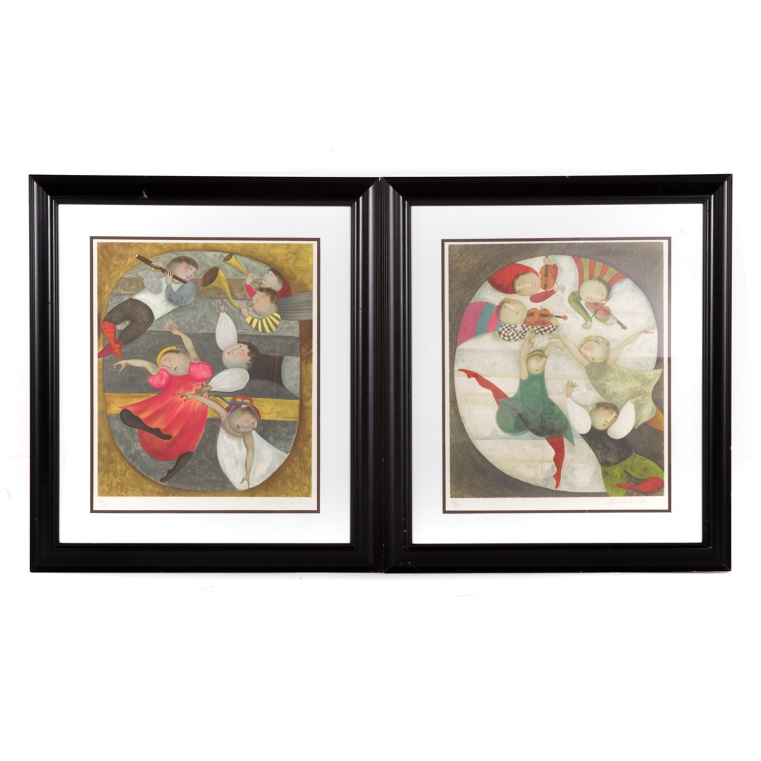 Graciela Rodo Boulanger. Pair of framed lithos