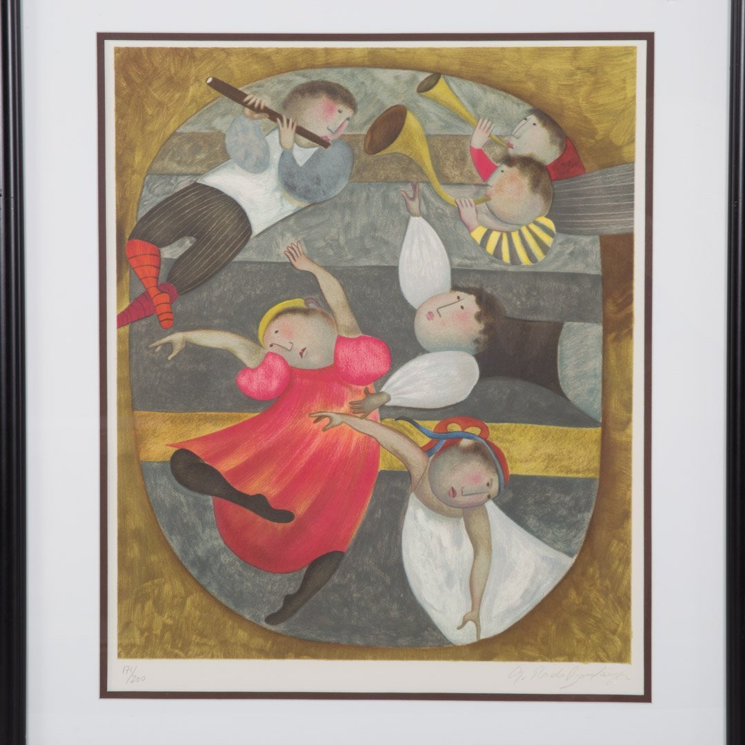 Graciela Rodo Boulanger. Pair of framed lithos - 2