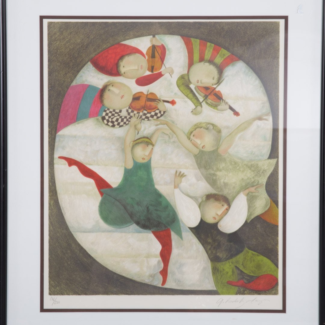 Graciela Rodo Boulanger. Pair of framed lithos - 3