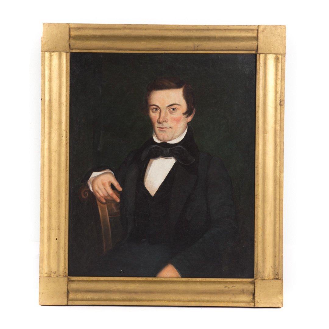 Leechler. Portrait of Samuel Leigler, oil