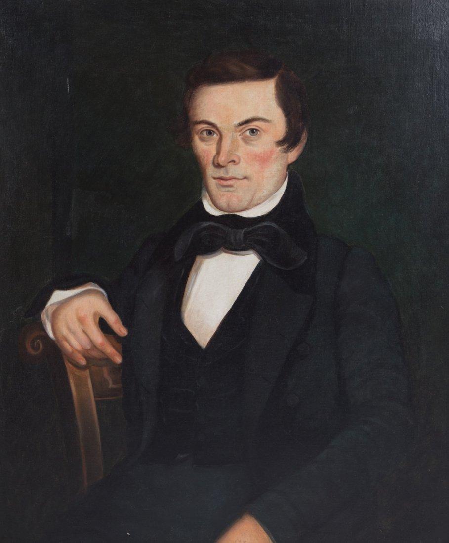 Leechler. Portrait of Samuel Leigler, oil - 2