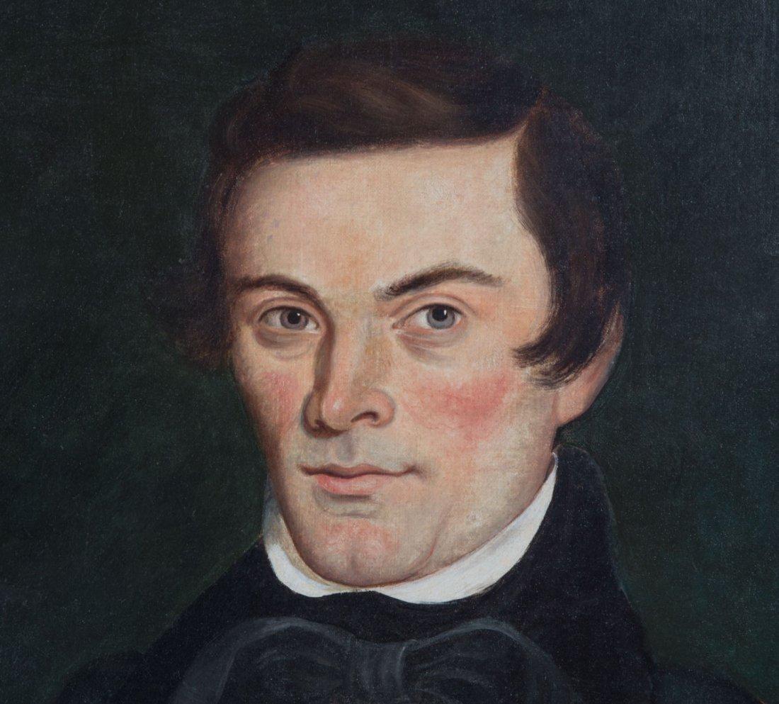 Leechler. Portrait of Samuel Leigler, oil - 3