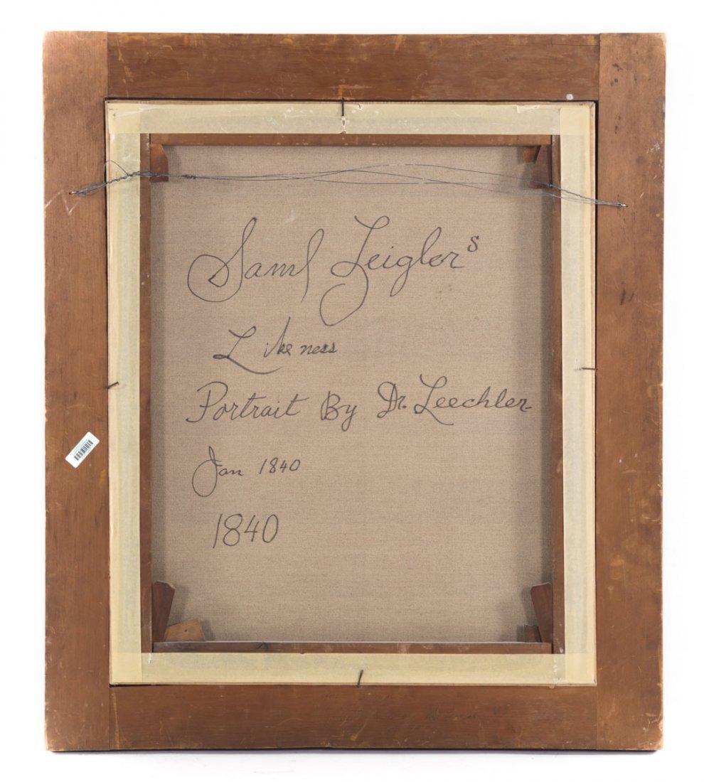 Leechler. Portrait of Samuel Leigler, oil - 4