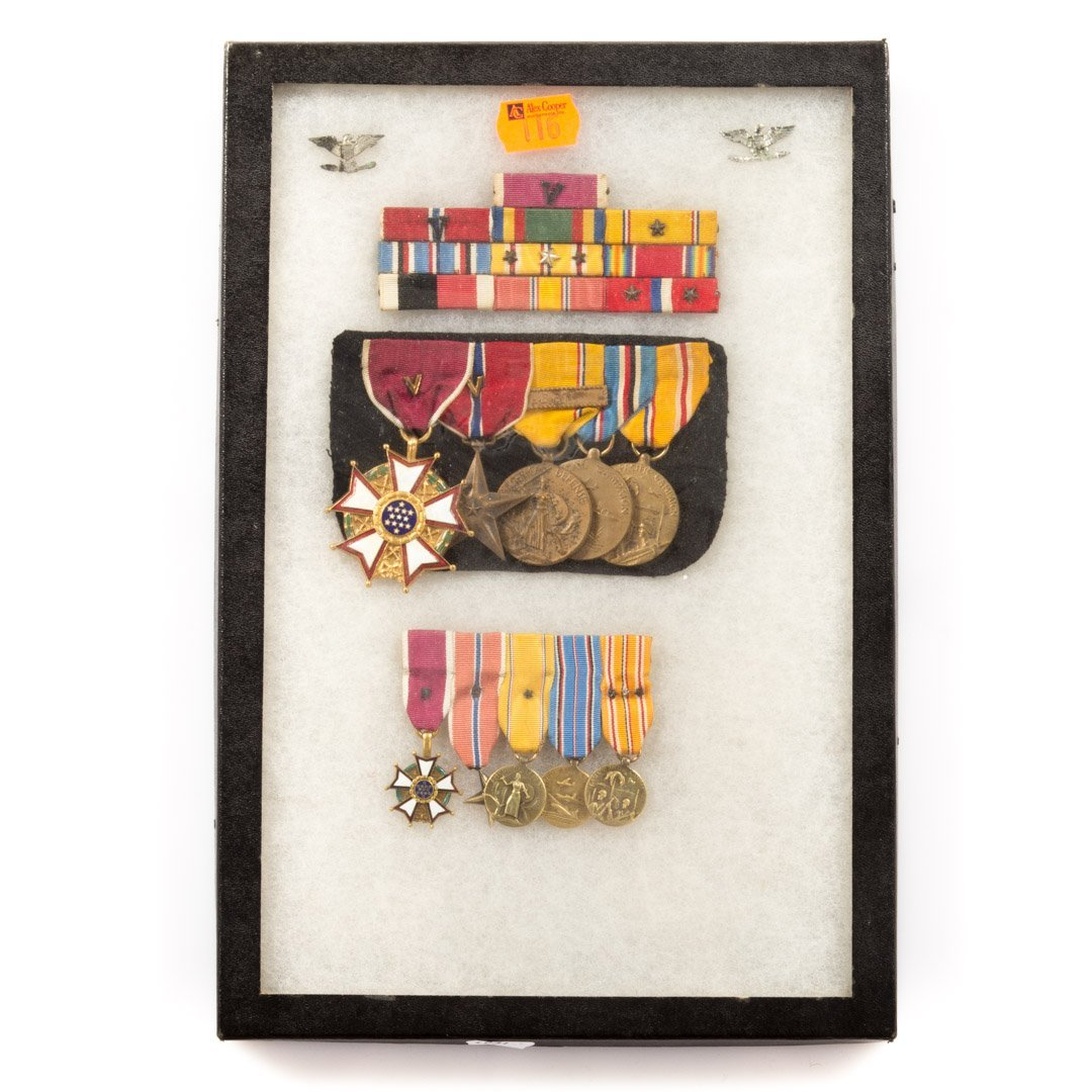 Assortment of WWII medals and ribbons