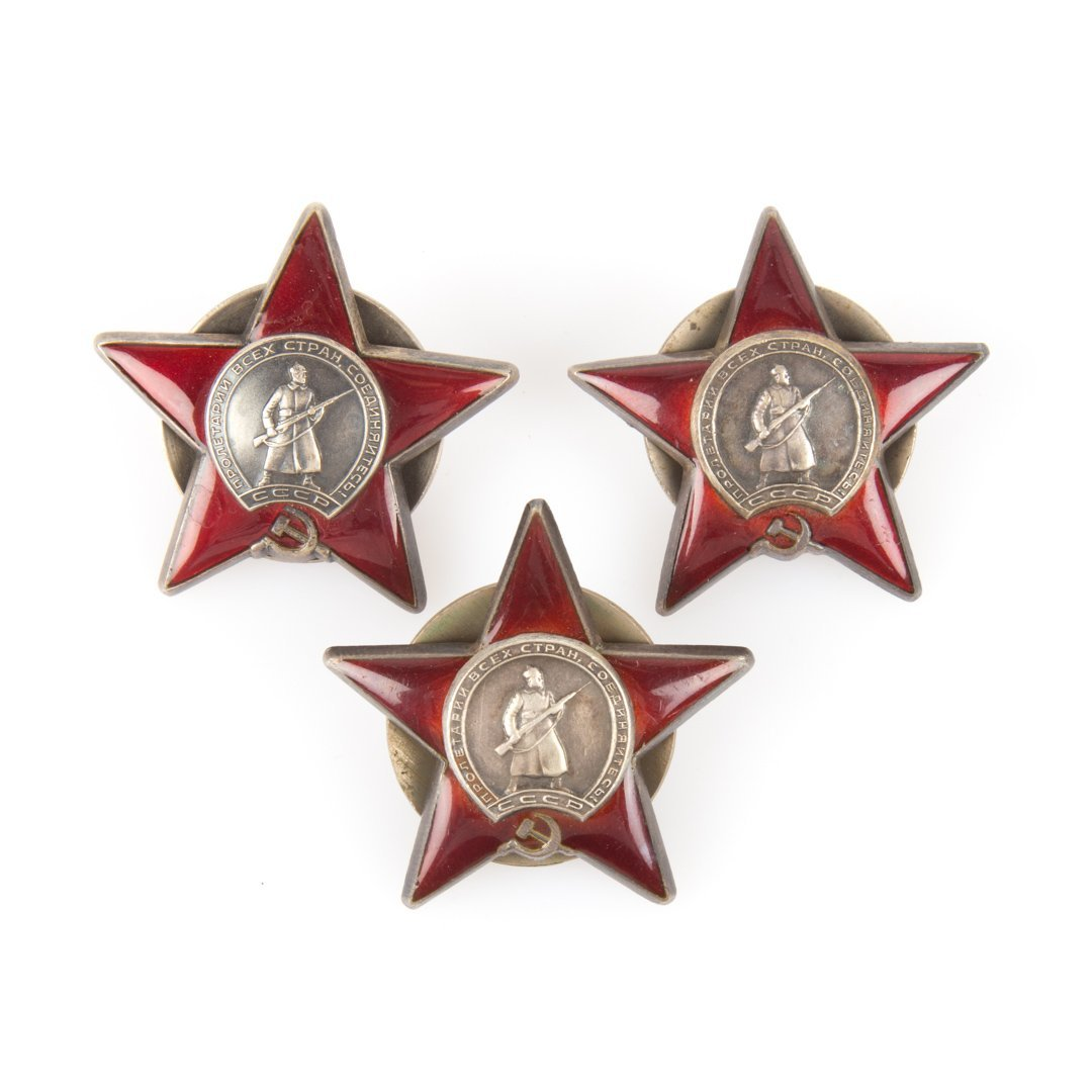 Three Russian Red Star medals