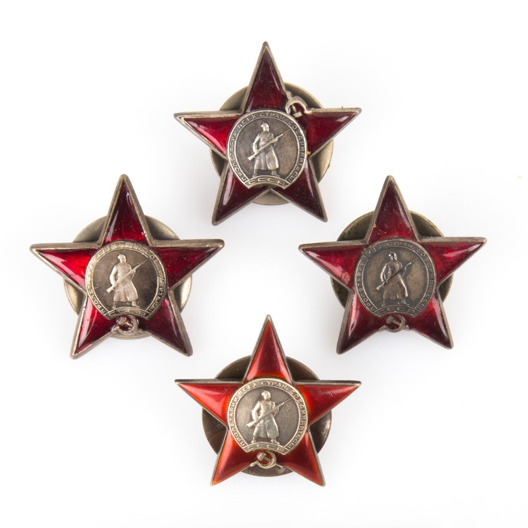 Four Soviet Red Star medals