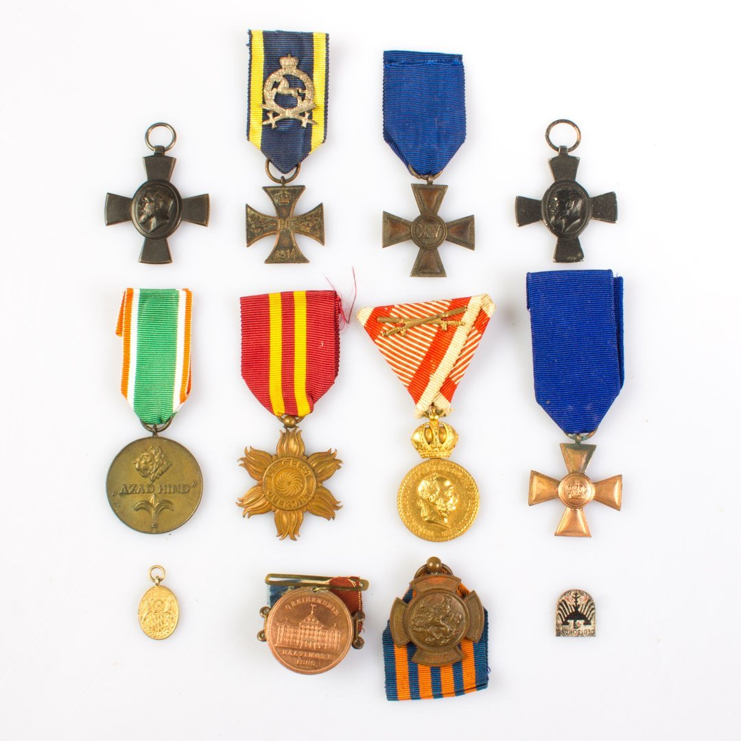 Assortment of mostly German medals
