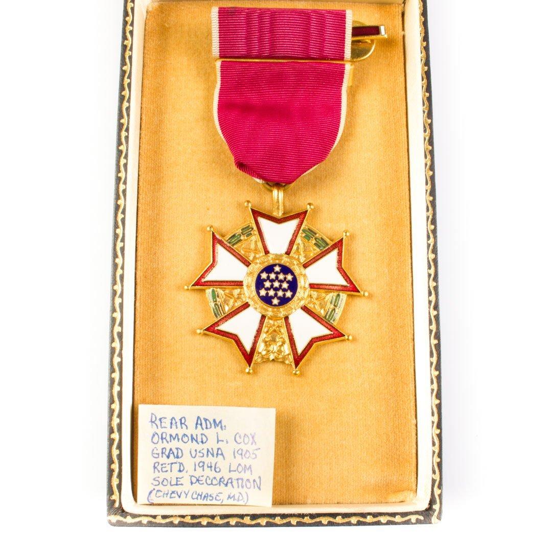 Coffin boxed Legion of Merit