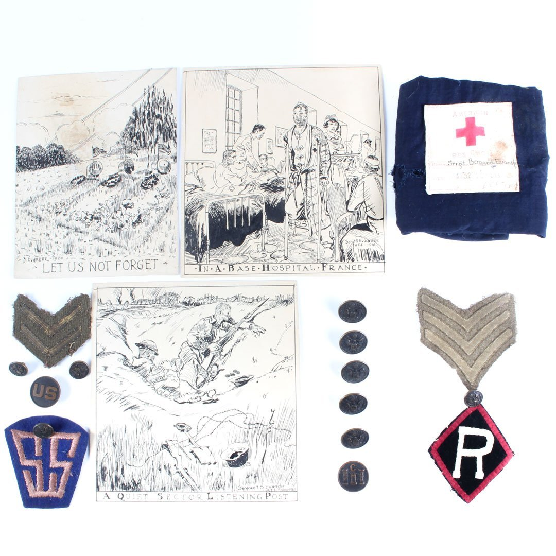Assorted WWI items