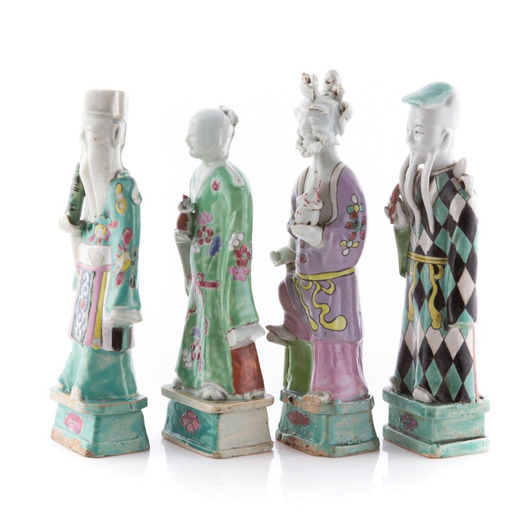Seven Chinese Export porcelain Immortals - 3