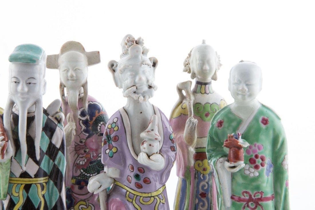 Seven Chinese Export porcelain Immortals - 4